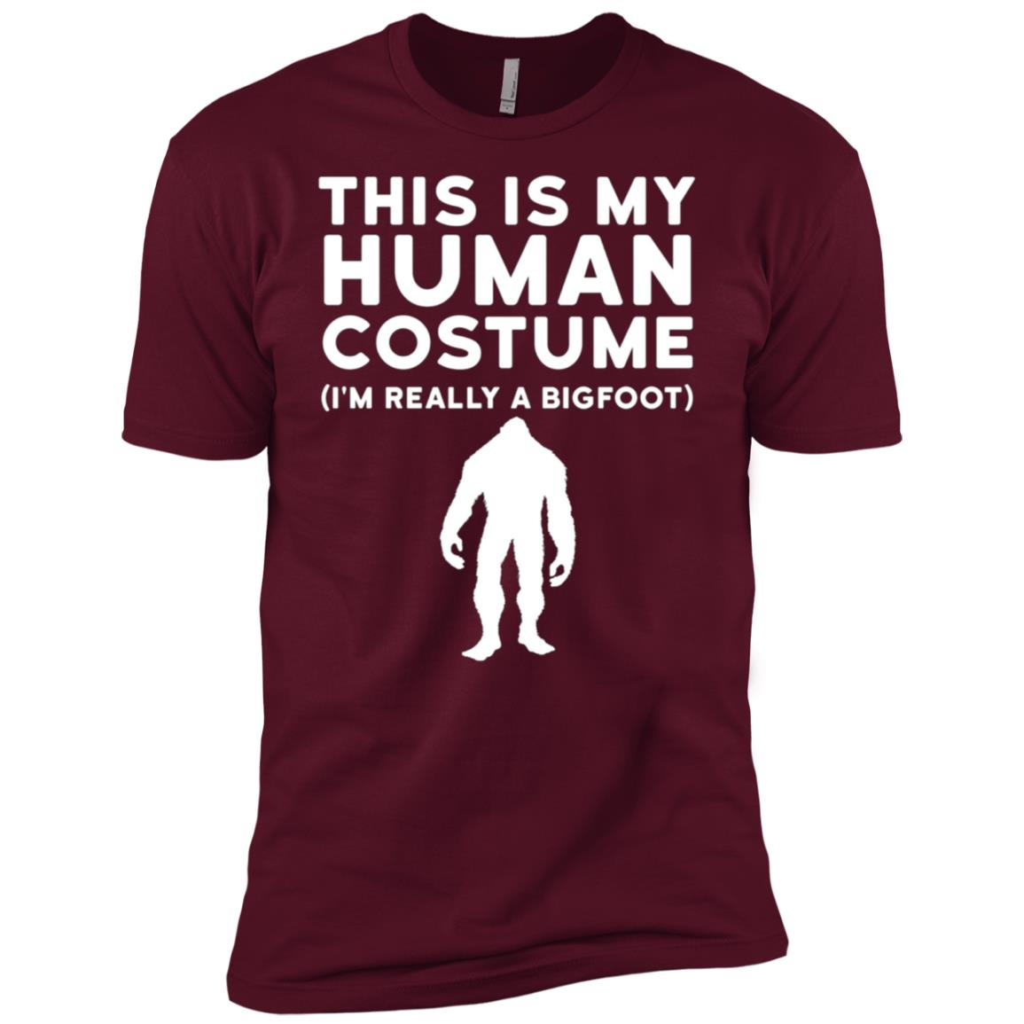 This Is My Human Costume I'm Really Bigfoot Halloween Men Short Sleeve T-Shirt