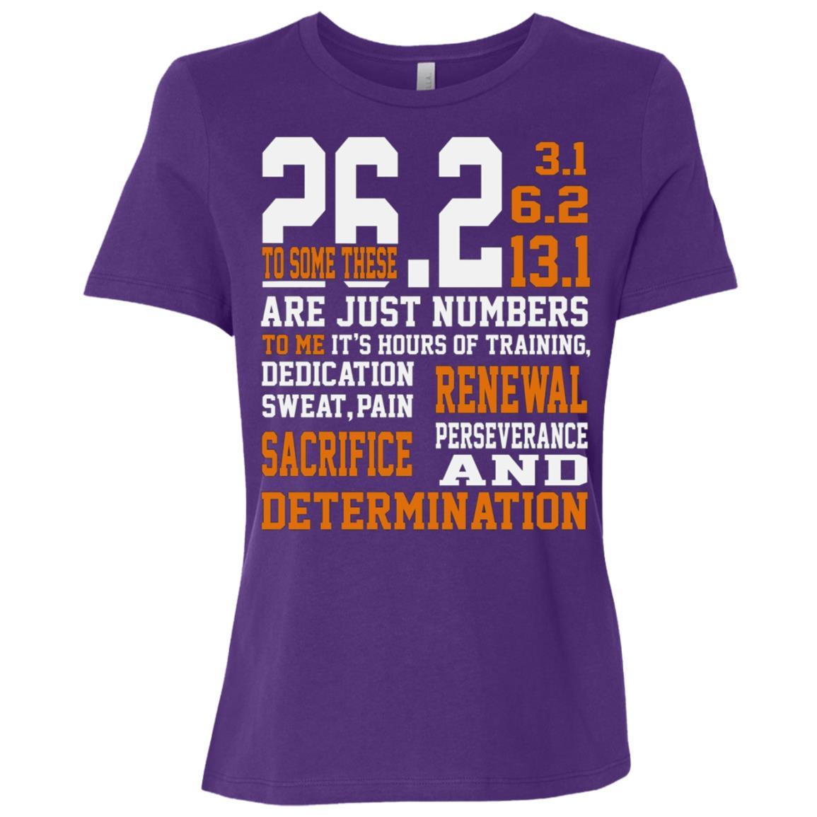 Determination Running 26.2 Women Short Sleeve T-Shirt