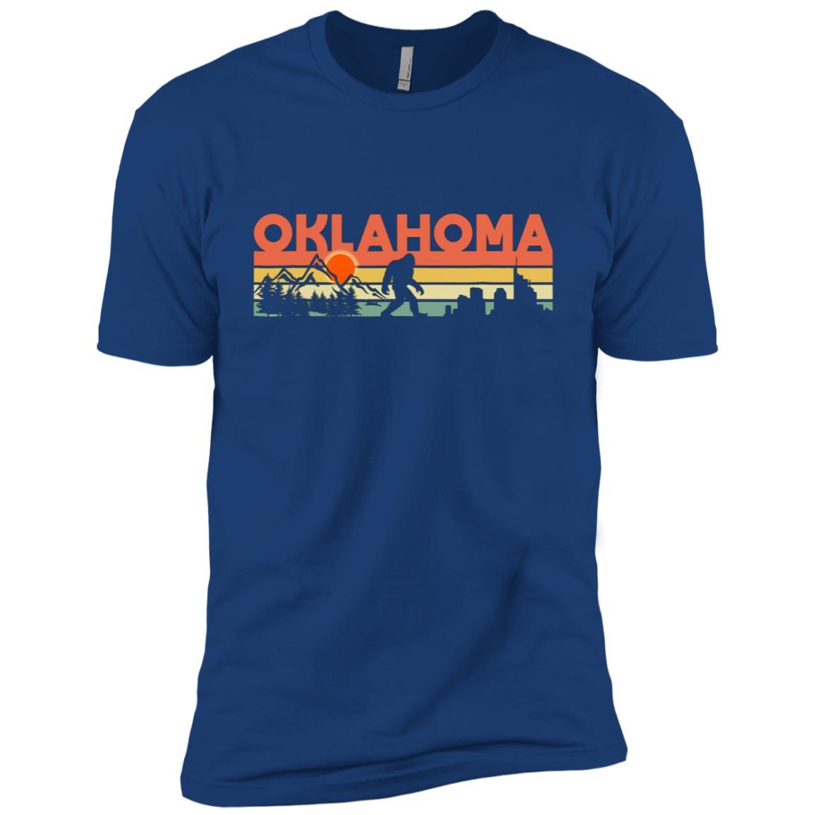 Vintage Oklahoma Bigfoot Silhouette Sun – Believe! Men Short Sleeve T-Shirt