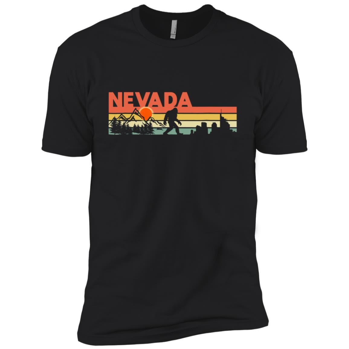 Vintage Nevada Bigfoot Silhouette Sun – Believe! Men Short Sleeve T-Shirt
