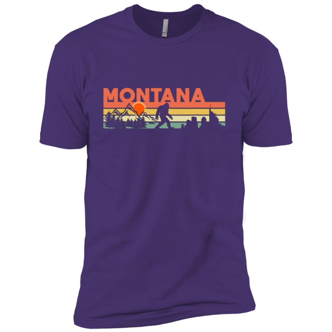Vintage Montana Bigfoot Silhouette Sun – Believe! Men Short Sleeve T-Shirt