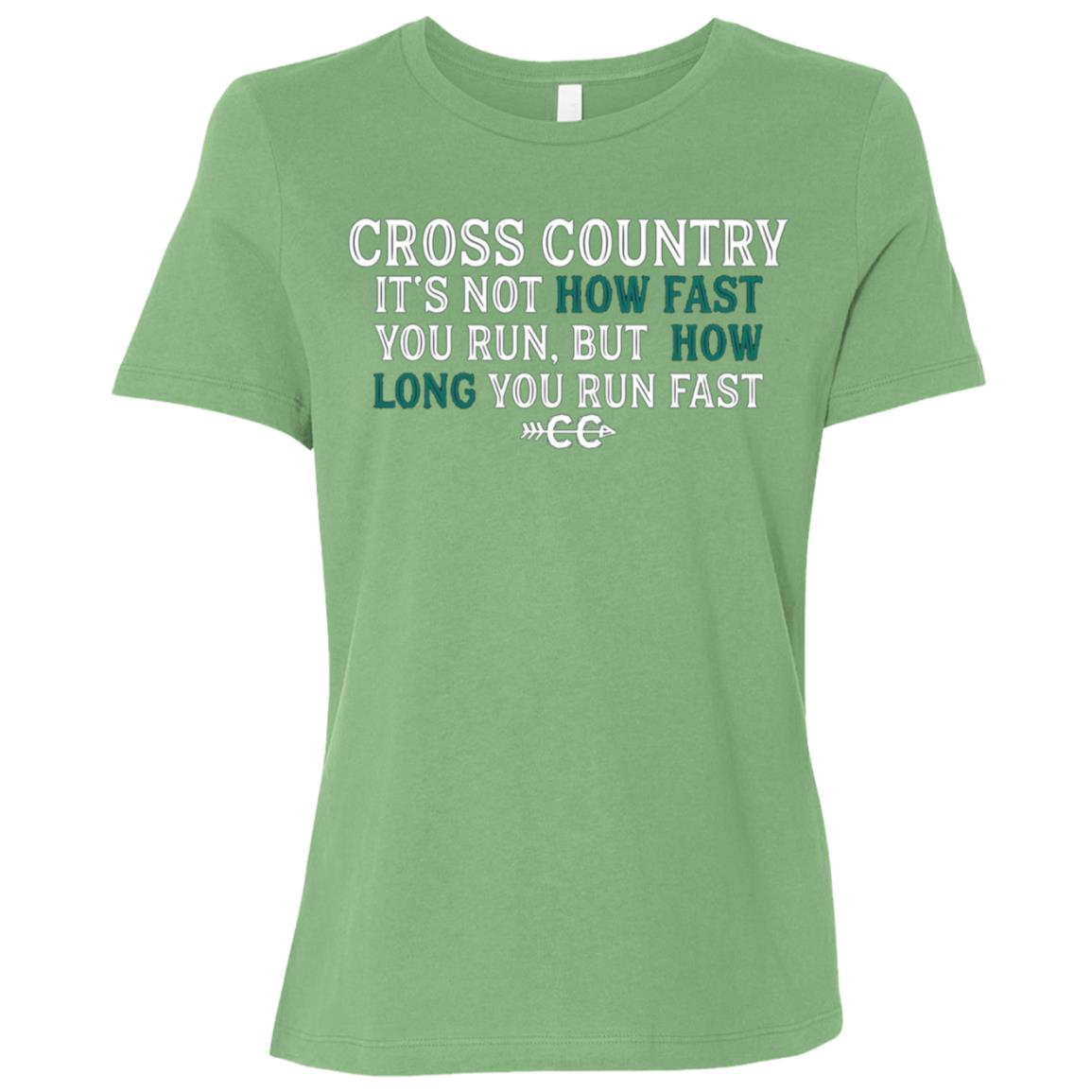 Cross Country Runnings – Funny Cross Country Running Women Short Sleeve T-Shirt