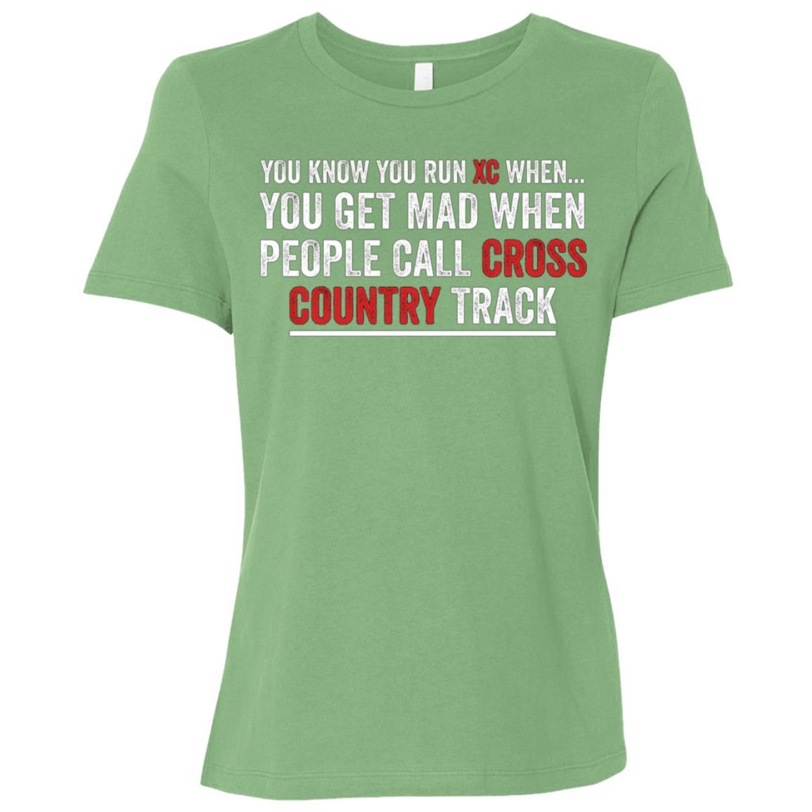 Cross Country Runnings – Funny Cross Country Women Short Sleeve T-Shirt