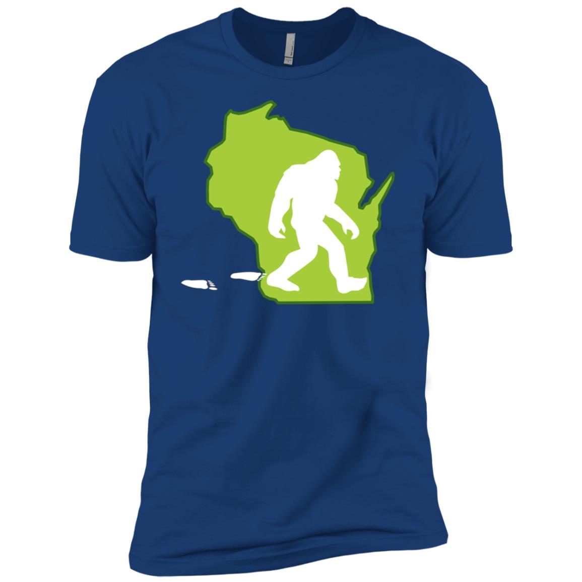 Wisconsin State Bigfoot Hunter Men Short Sleeve T-Shirt