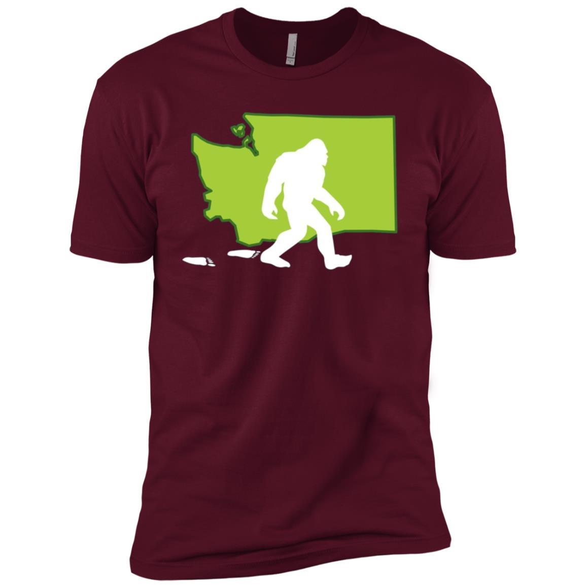 Washington State Bigfoot Hunter Men Short Sleeve T-Shirt