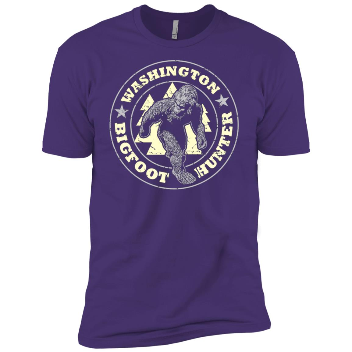 Washington Bigfoot Hunter Believe Men Short Sleeve T-Shirt