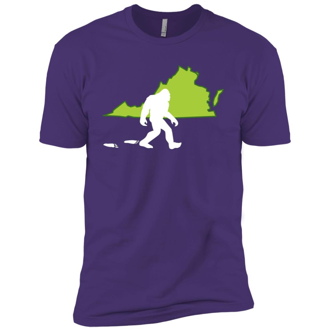 Virginia State Bigfoot Hunter Men Short Sleeve T-Shirt