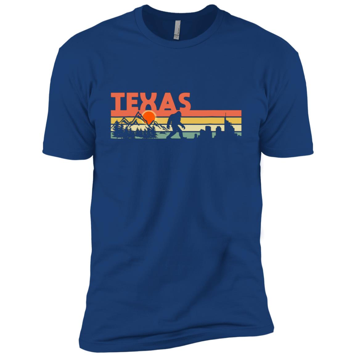 Vintage Texas Bigfoot Silhouette Sun – Believe! Men Short Sleeve T-Shirt