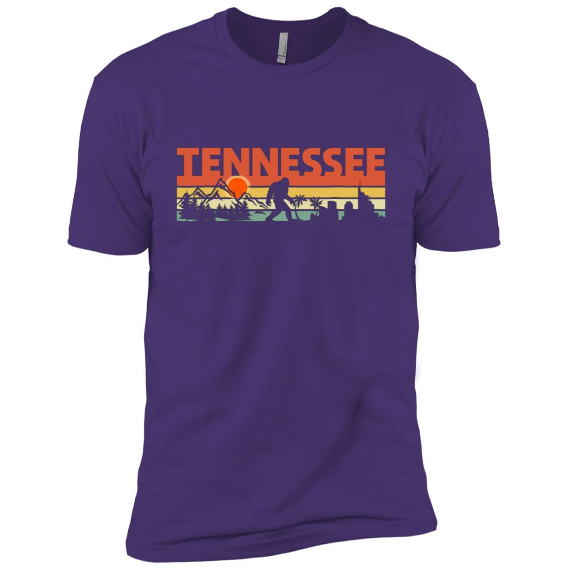 Vintage Tennessee Bigfoot Silhouette Sun – Believe! Men Short Sleeve T-Shirt