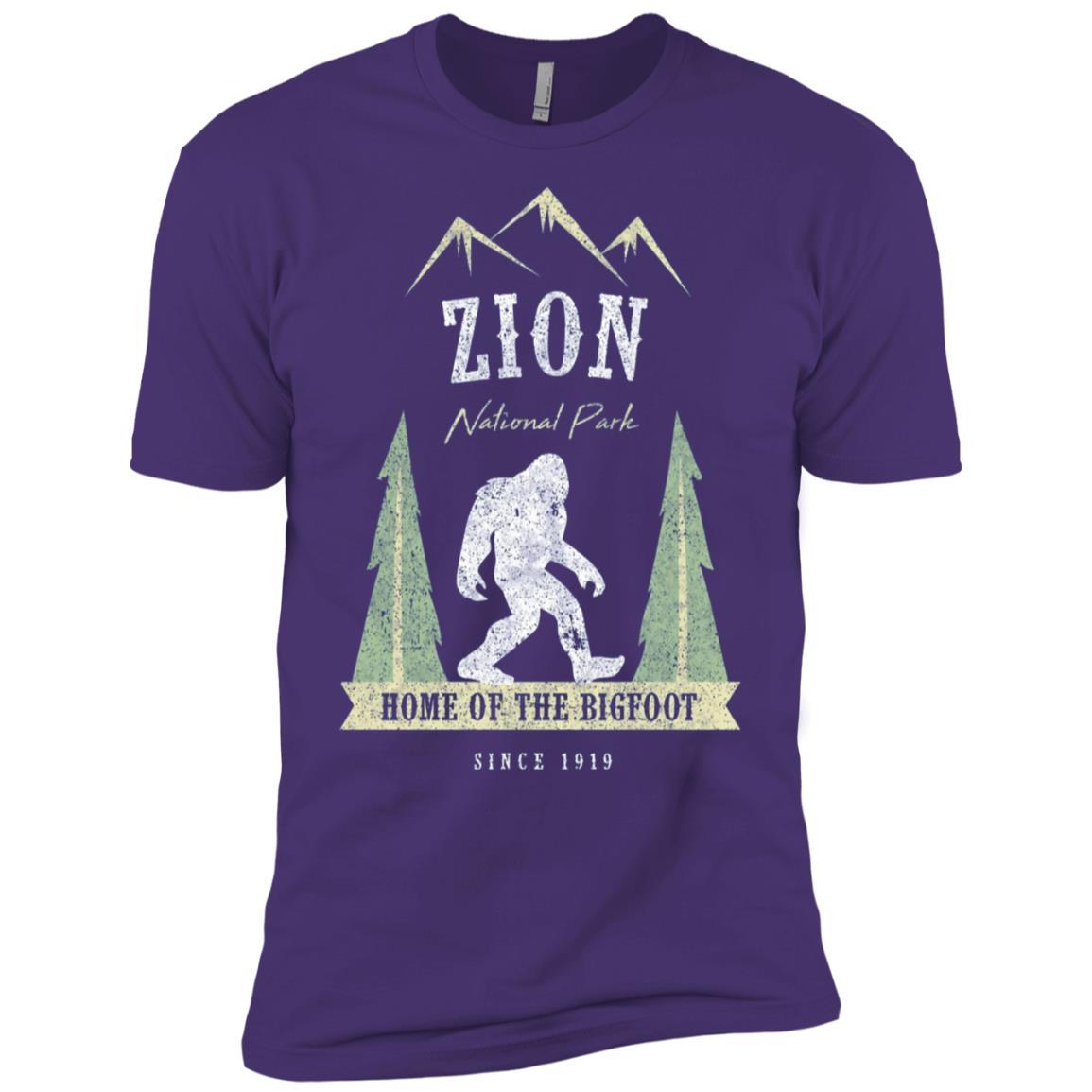 Zion National Park Vintage Bigfoot Utah Gift Men Short Sleeve T-Shirt