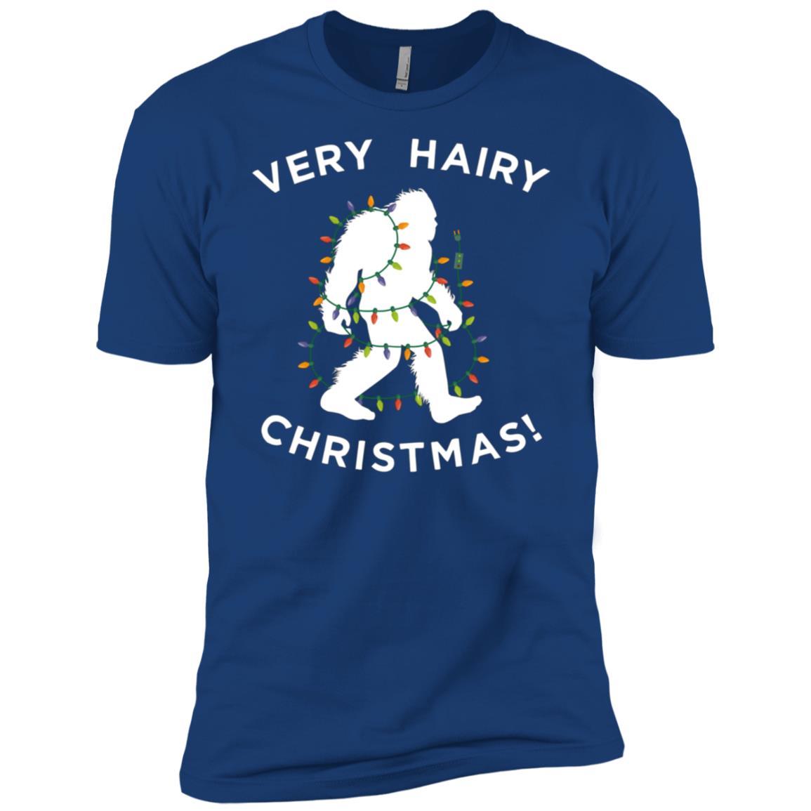 Xmas Bigfoot , Funny Hairy Christmas Gift Men Short Sleeve T-Shirt
