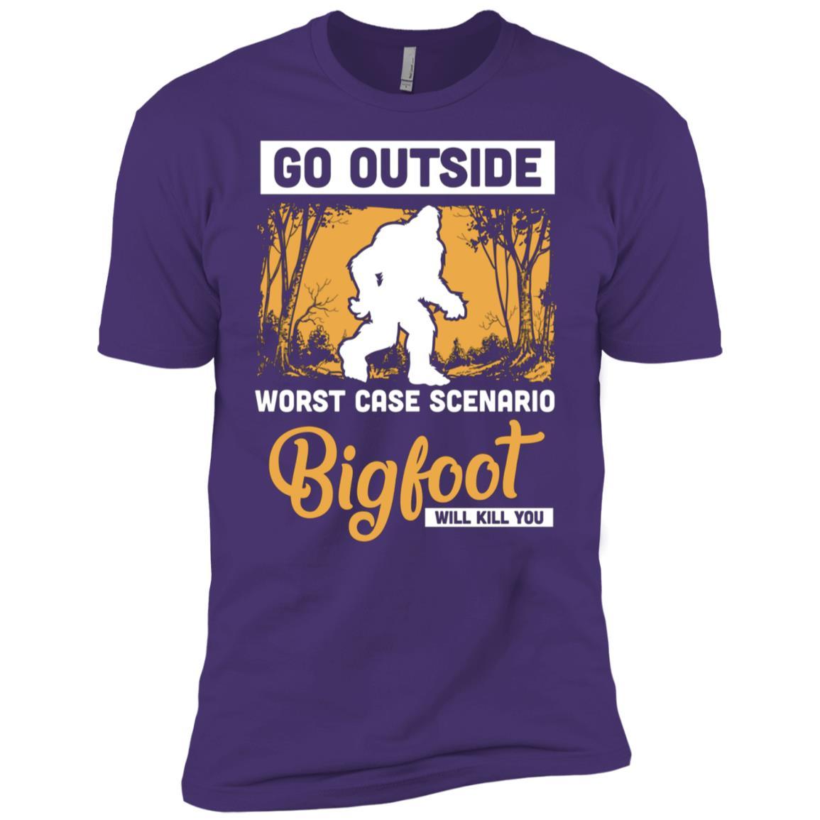Worst Case Scenario Bigfoot Men Short Sleeve T-Shirt