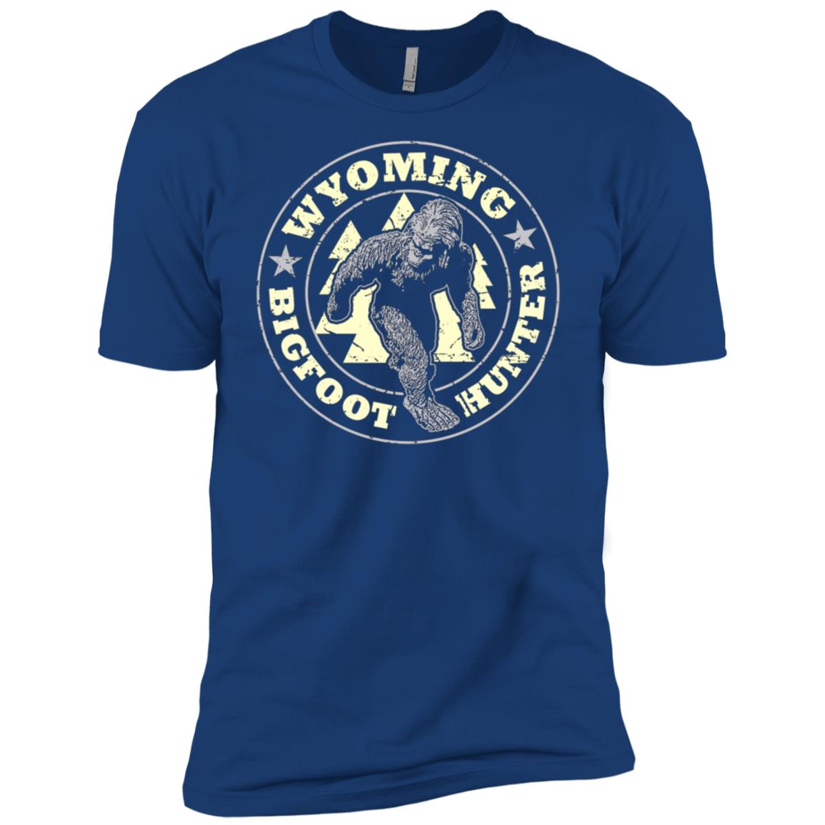 Wyoming Bigfoot Hunter Believe Men Short Sleeve T-Shirt
