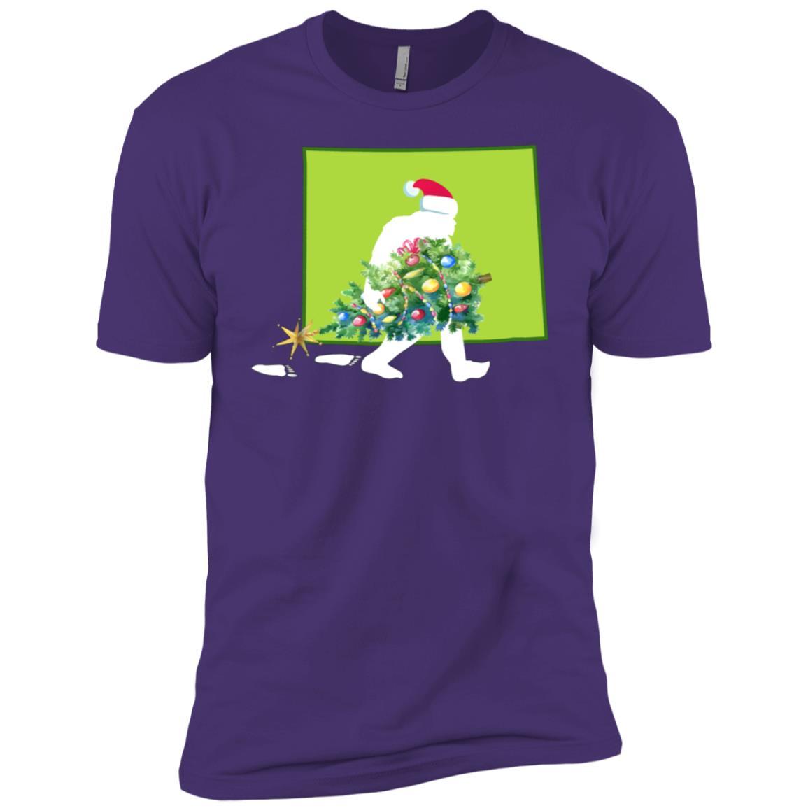 Wyoming Bigfoot State Christmas Tree Men Short Sleeve T-Shirt