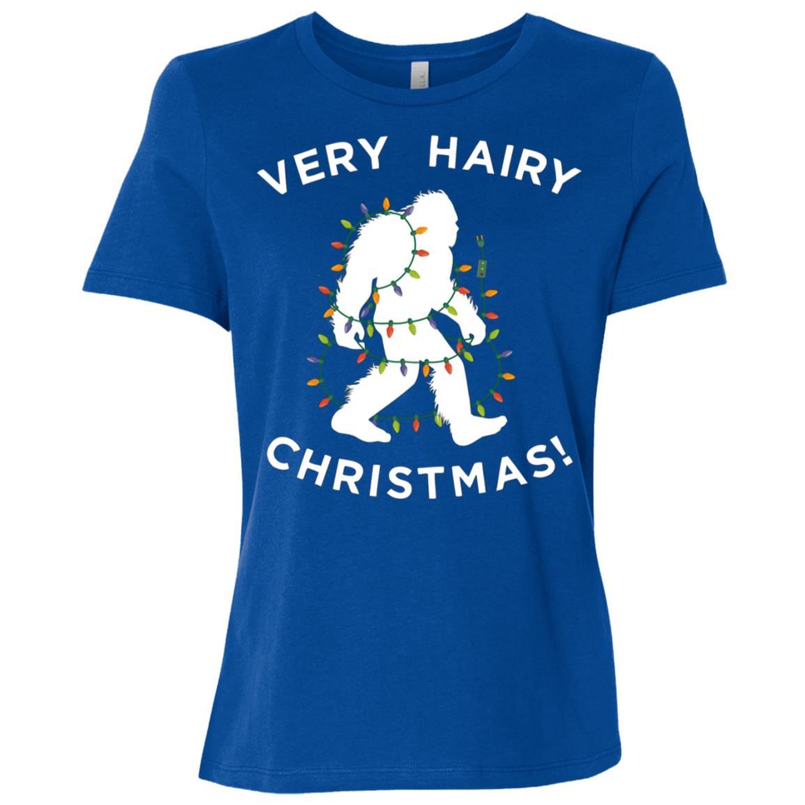 Xmas Bigfoot , Funny Hairy Christmas Gift Women Short Sleeve T-Shirt