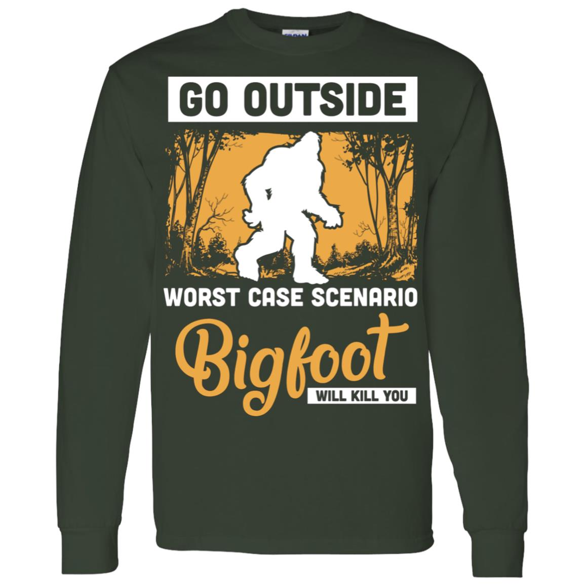 Worst Case Scenario Bigfoot Men Long Sleeve T-Shirt