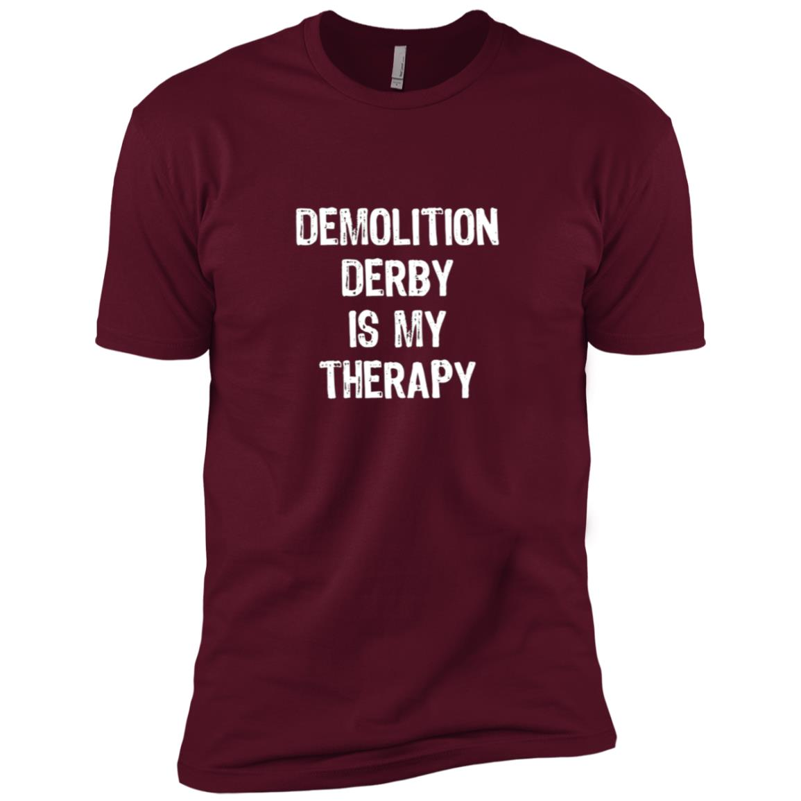 Demolition Derby Is My Therapy Funny Men Short Sleeve T-Shirt