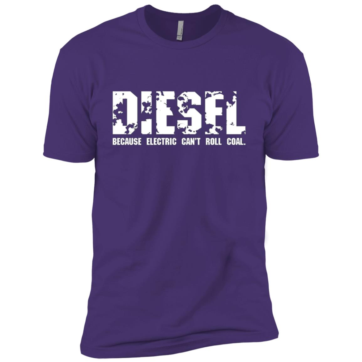 Diesel Because Electric Can't Roll Coal Truck Men Short Sleeve T-Shirt