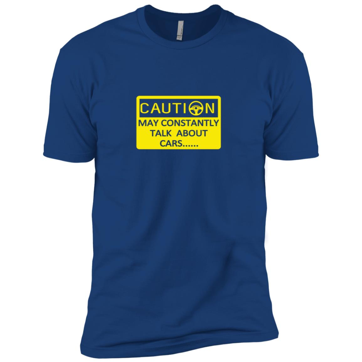 Caution May Constantly Talk about Cars Lover Tee Men Short Sleeve T-Shirt