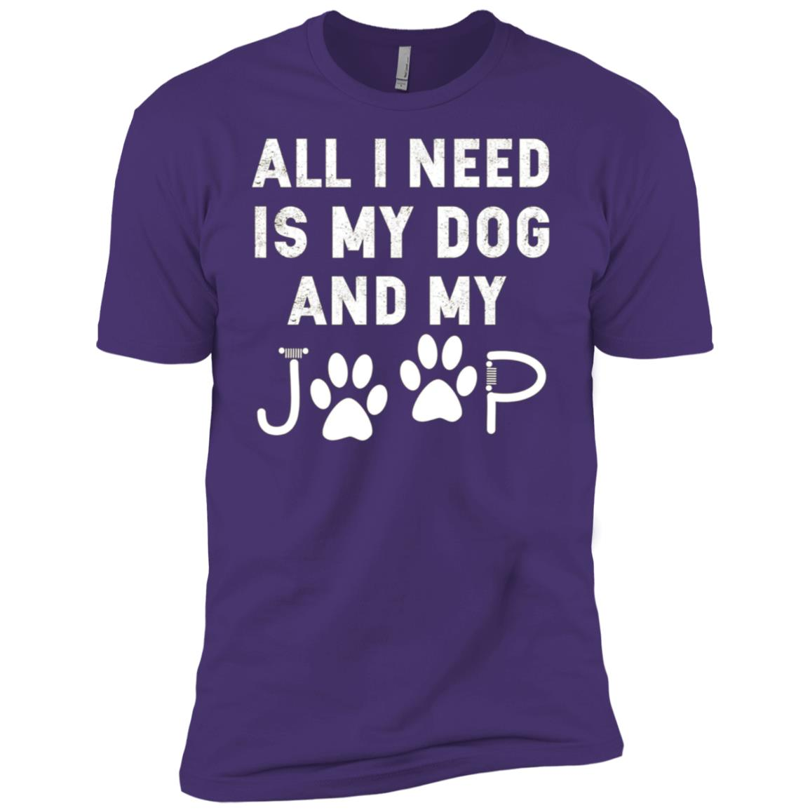 All I need is my dog and my jeep funny dog lover Men Short Sleeve T-Shirt