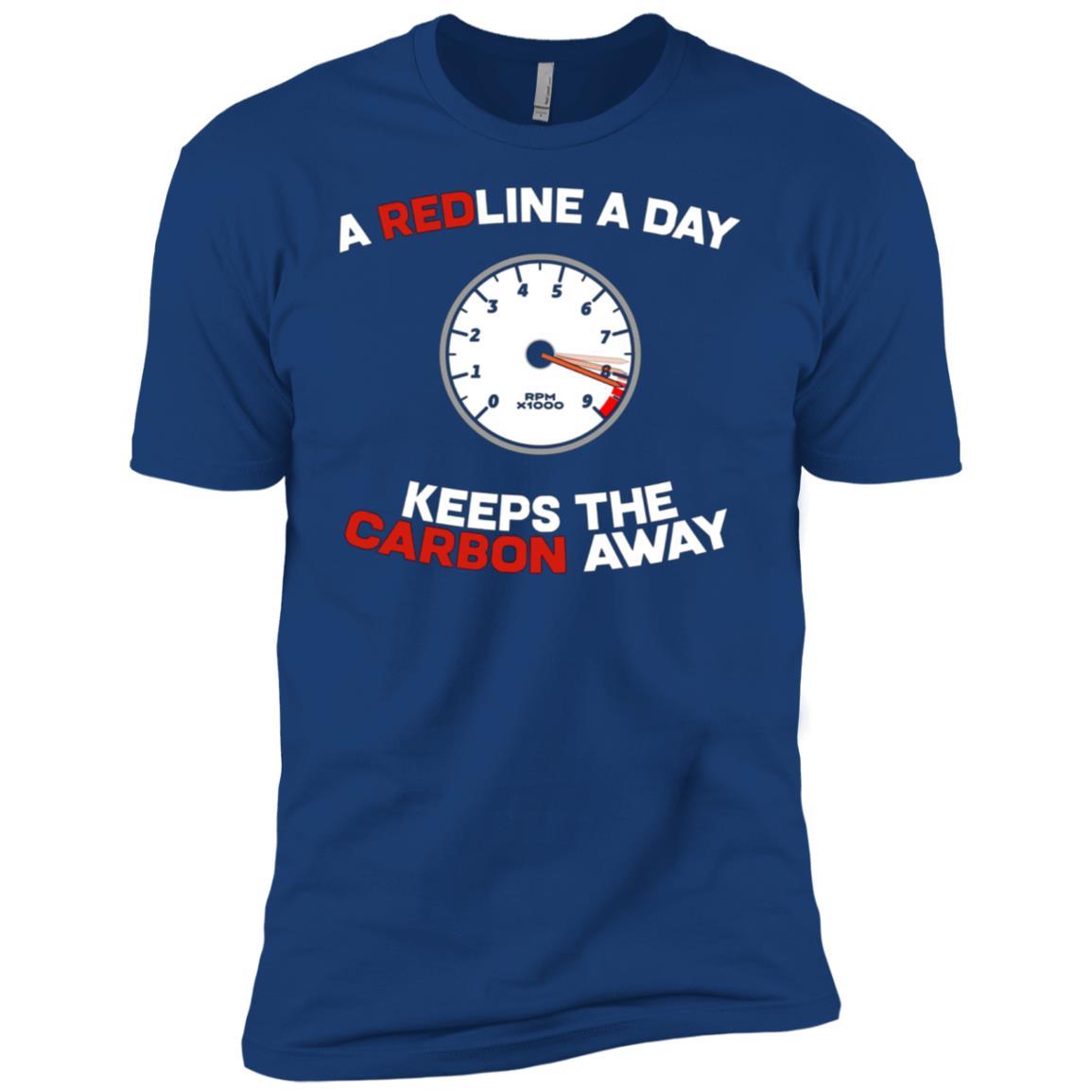 A Redline A Day Carbon Away – Funny Car Meme Men Short Sleeve T-Shirt