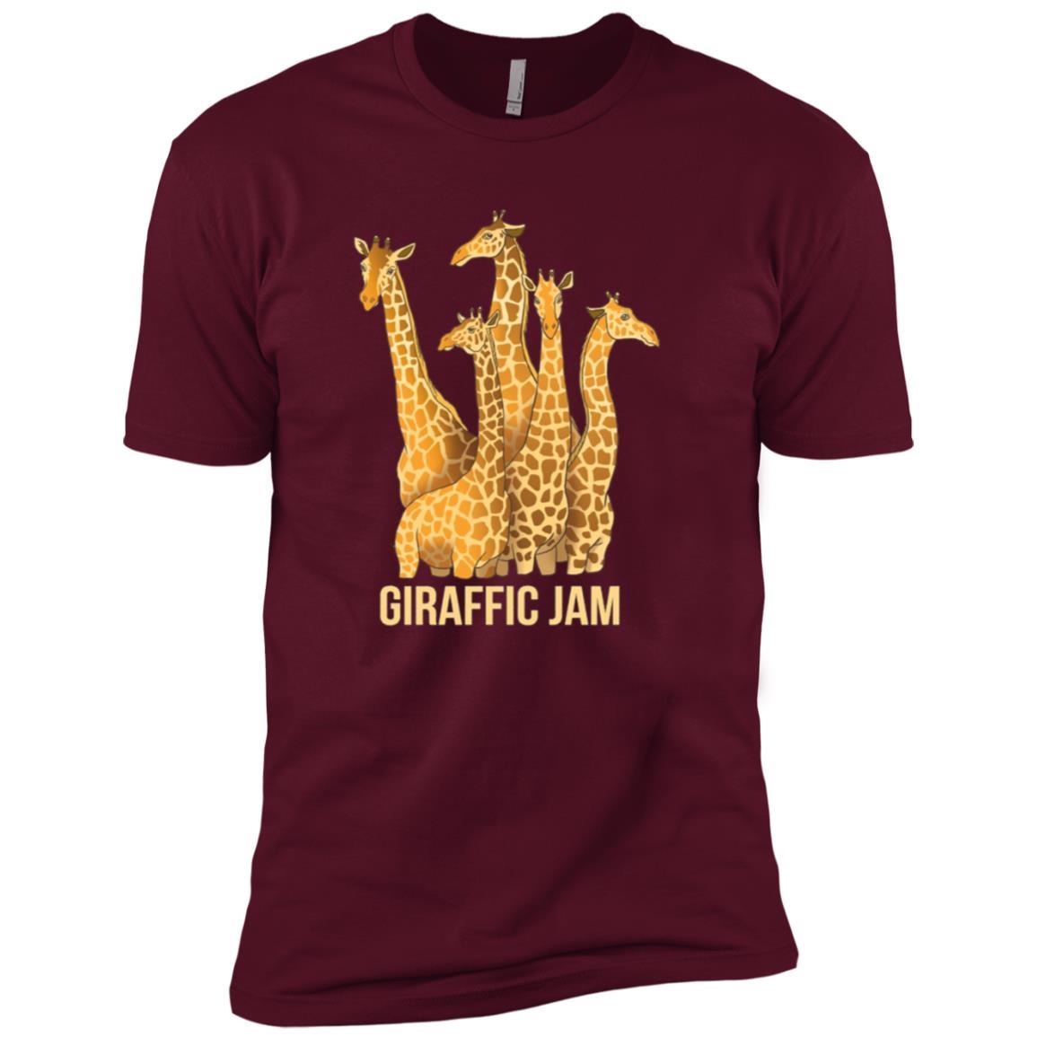 Giraffic Jam – Funny Giraffe Traffic Pun Men Short Sleeve T-Shirt