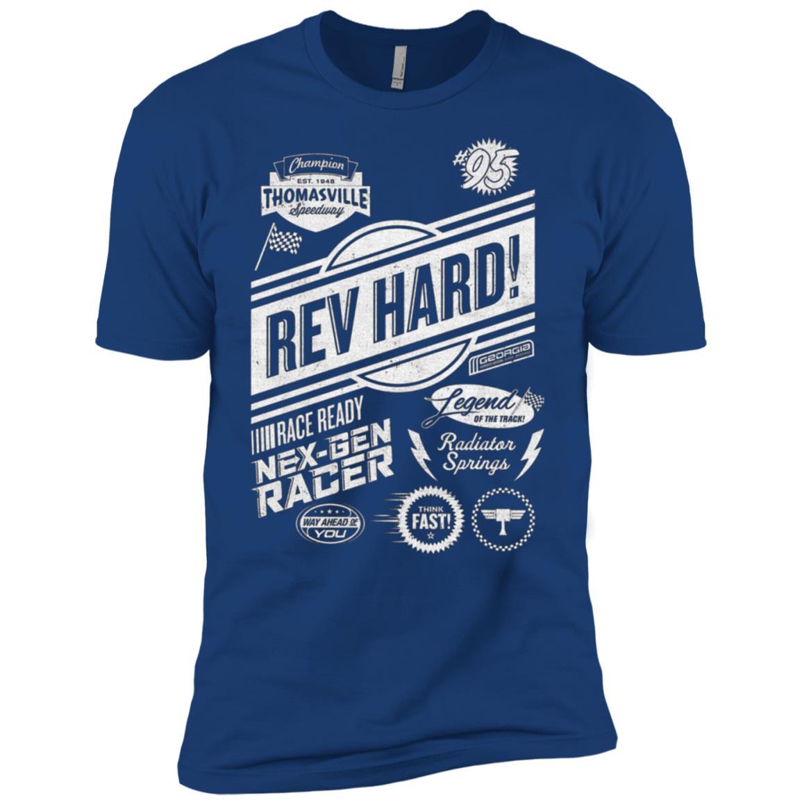 Disney Pixar Cars Rev Hard Sponsors Graphic Men Short Sleeve T-Shirt