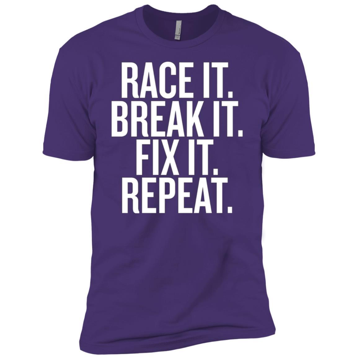 Funny Race It Break It Fix It Repeat Racing Mechanic Men Short Sleeve T-Shirt