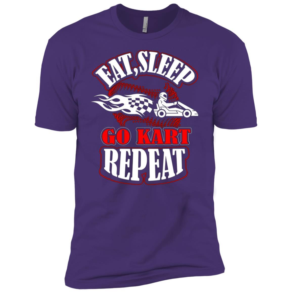 Eat Sleep Go Kart Racing Repeat Men Short Sleeve T-Shirt