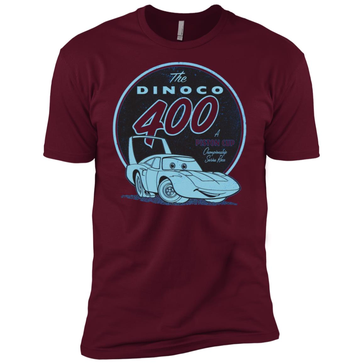 Disney Pixar Cars The King Dinoco 400 Series Graphic Men Short Sleeve T-Shirt