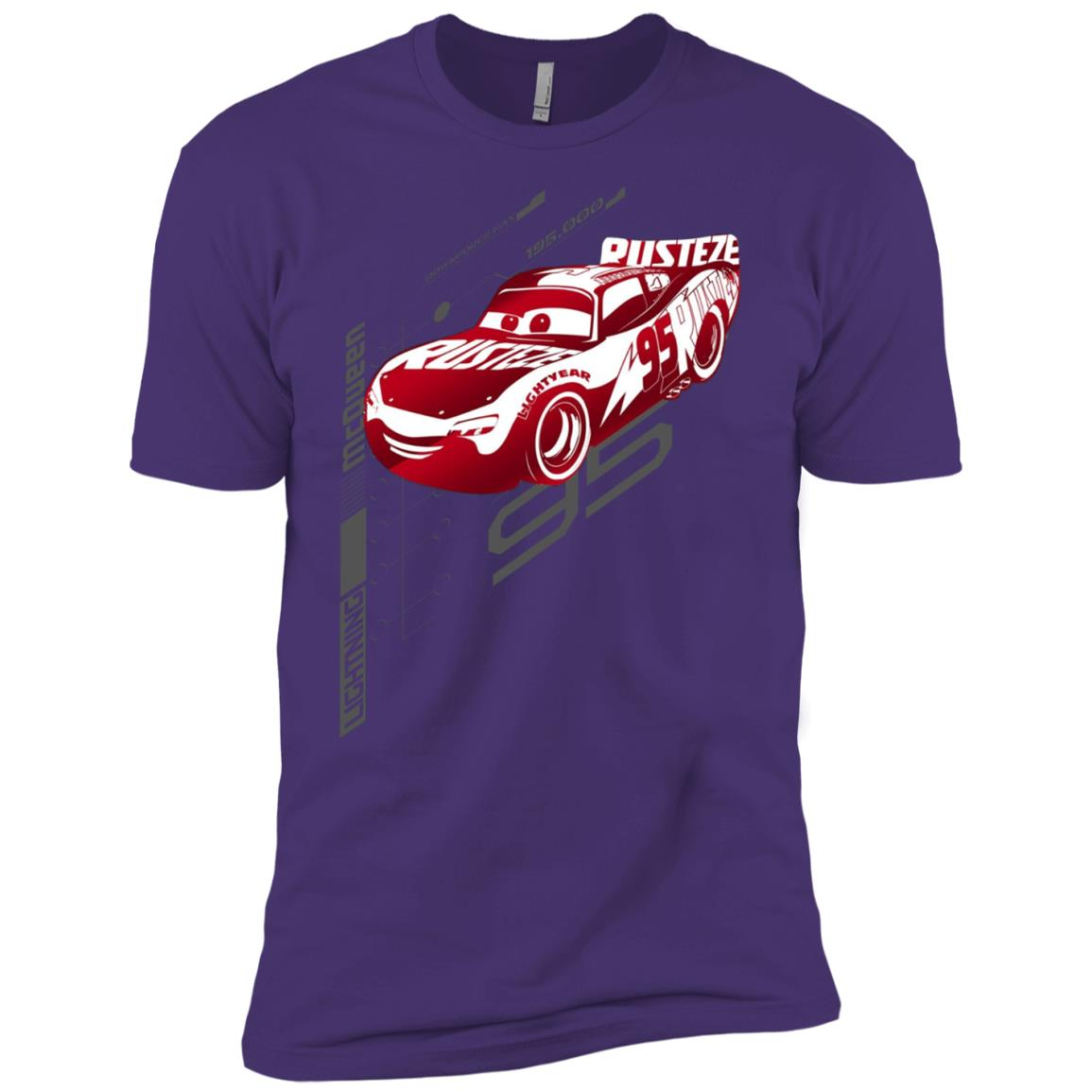 Disney Pixar Cars McQueen Digital Profile Graphic Men Short Sleeve T-Shirt