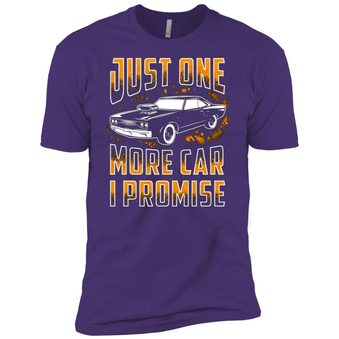 Just One More Car I Promise Funny Gift For Car Lovers Men Short Sleeve T-Shirt