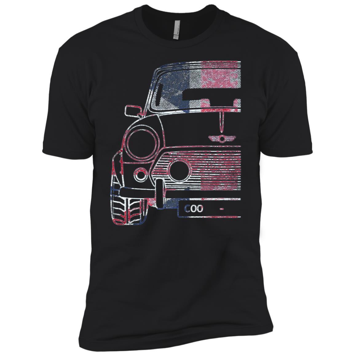 Ikonik Motorworks Classic Mini Uk Roughed Men Short Sleeve T-Shirt