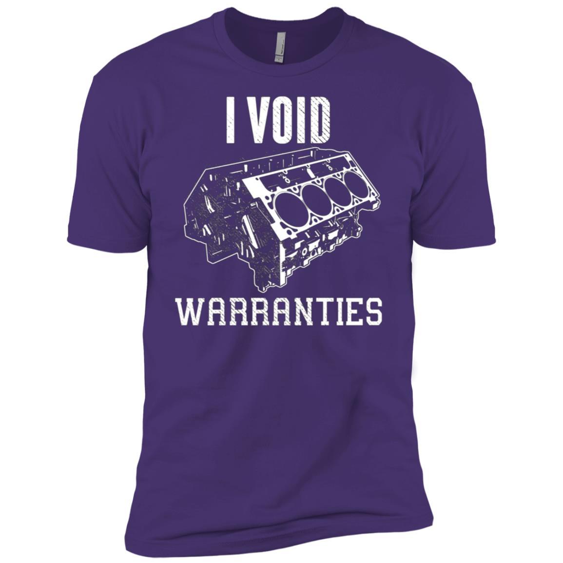 I Void Warranties Funny Mechanic V8 Engine Men Short Sleeve T-Shirt