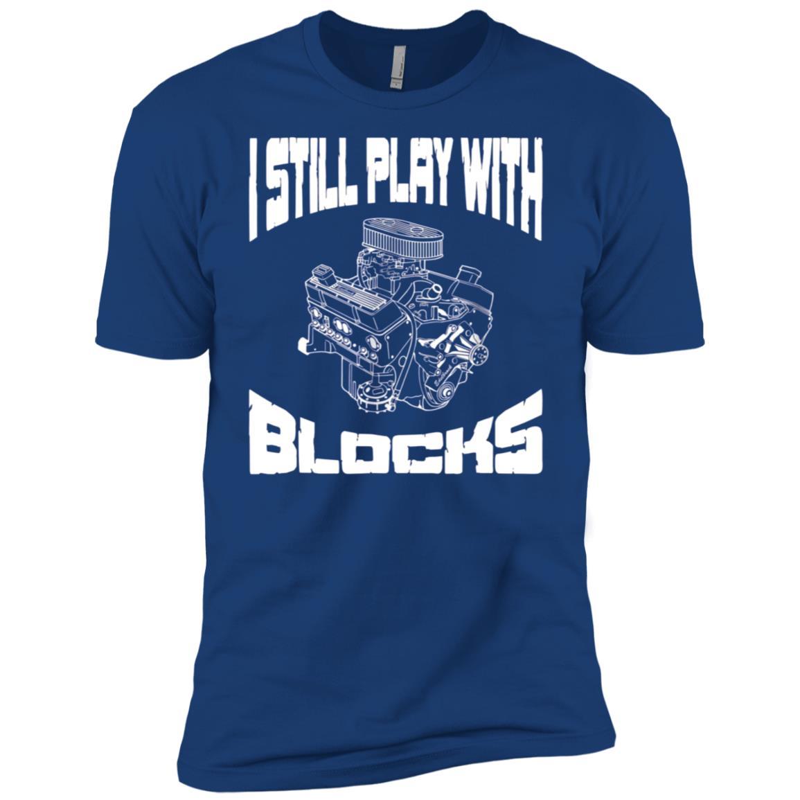I still play with blocks Mens Mechanic Racing Drag Men Short Sleeve T-Shirt