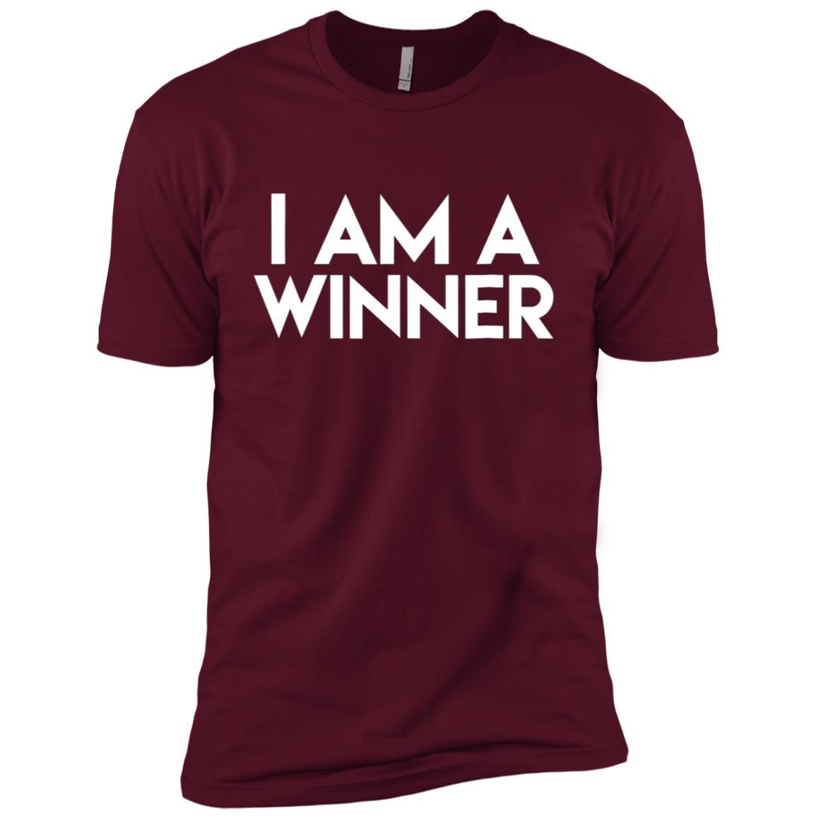 I Am A Winner Positive Humorous Trending Men Short Sleeve T-Shirt