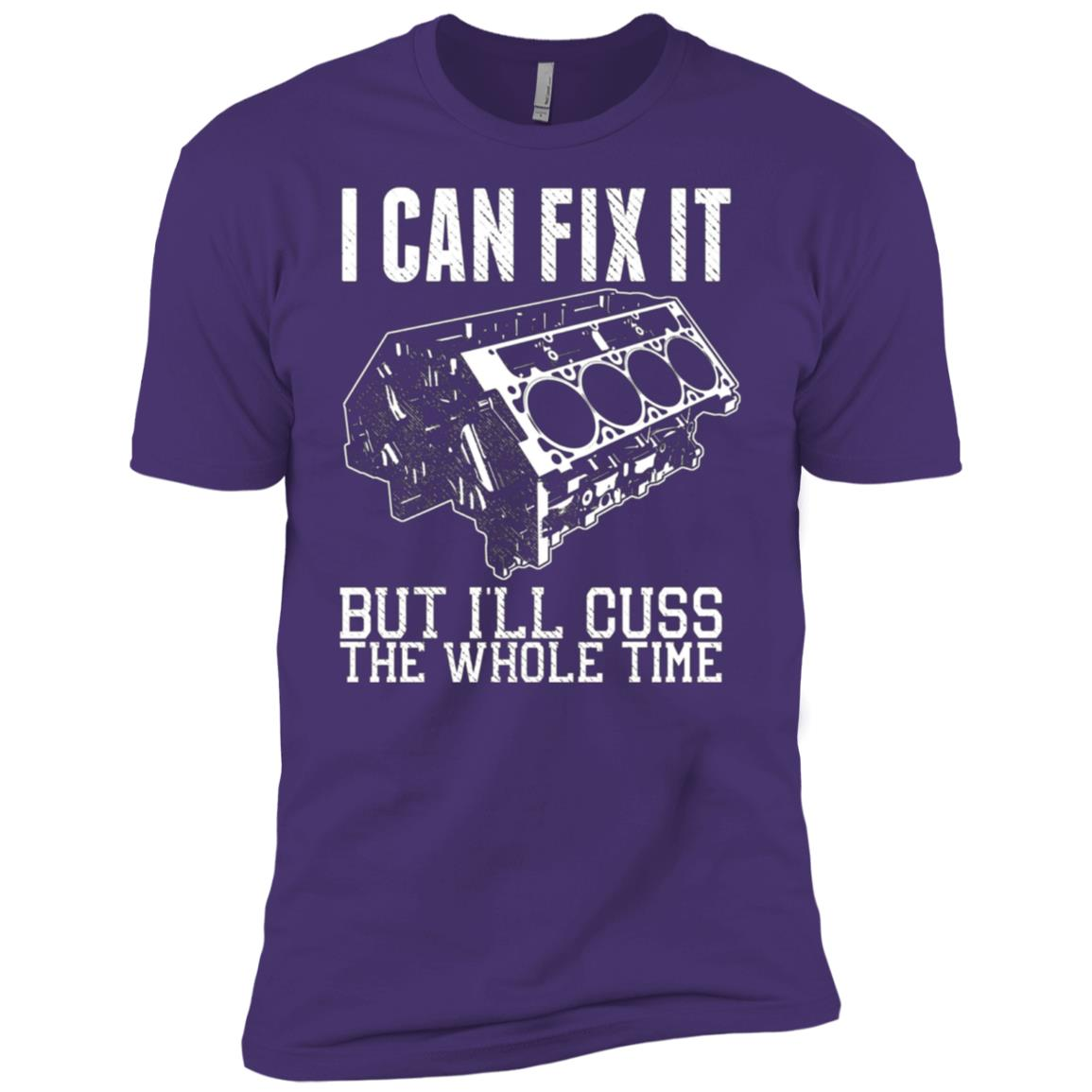 I Can Fix It but I'll Cuss Funny Mechanic V8 Engine Men Short Sleeve T-Shirt