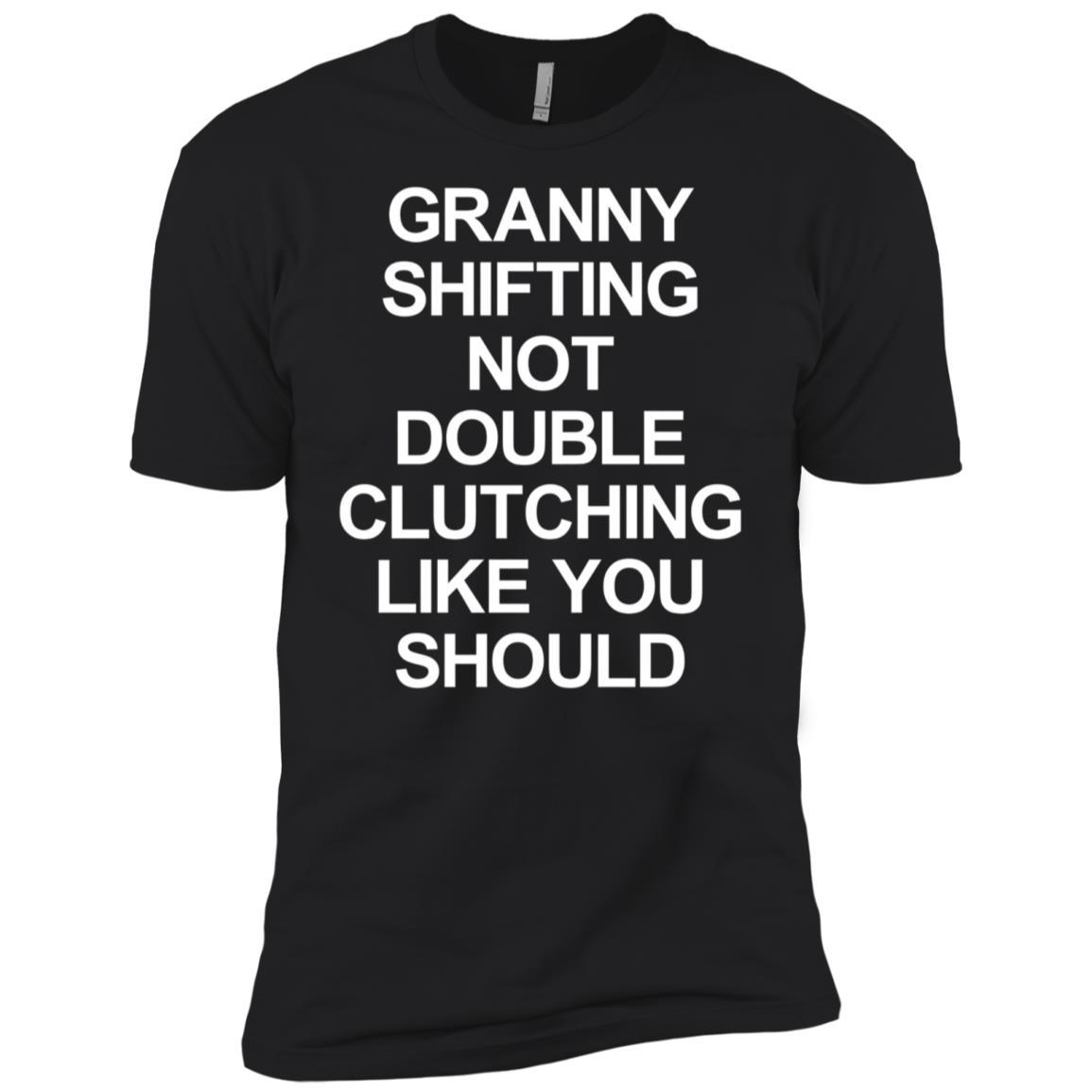 Granny Shifting Muscle Car Furious Quote Fast Manual Men Short Sleeve T-Shirt
