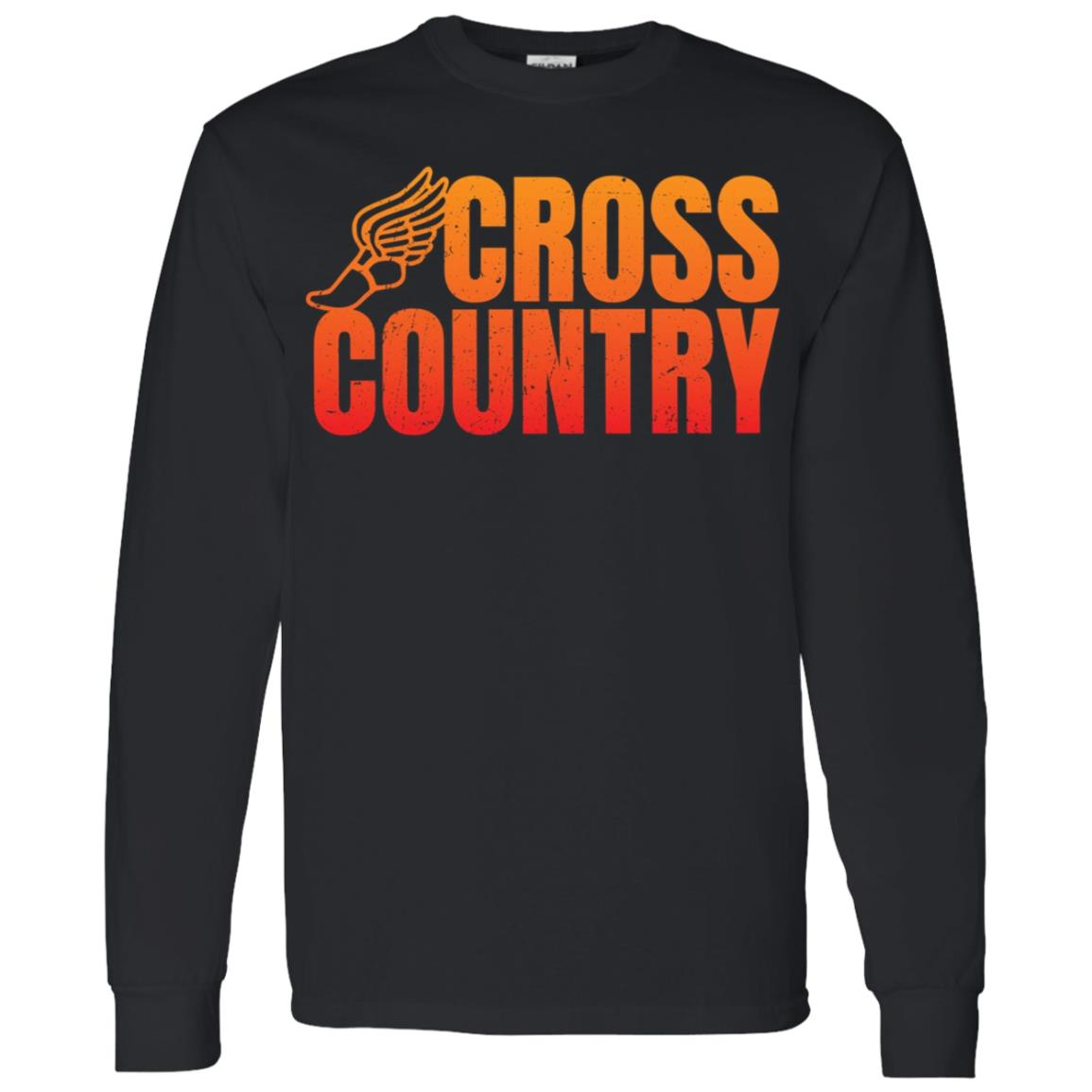 Cool Funny Cross Country Running Gift for Runners Men Long Sleeve T-Shirt