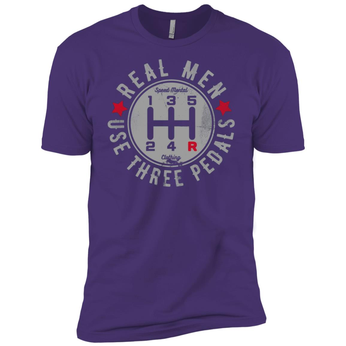 Mens Real Men Use Three Pedals Manual Transmission Car Men Short Sleeve T-Shirt