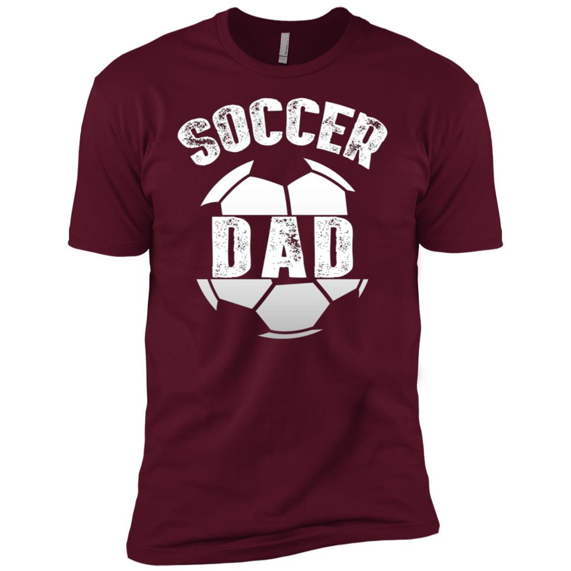 Mens Mens Soccer Dad Funny Father Gift Men Short Sleeve T-Shirt