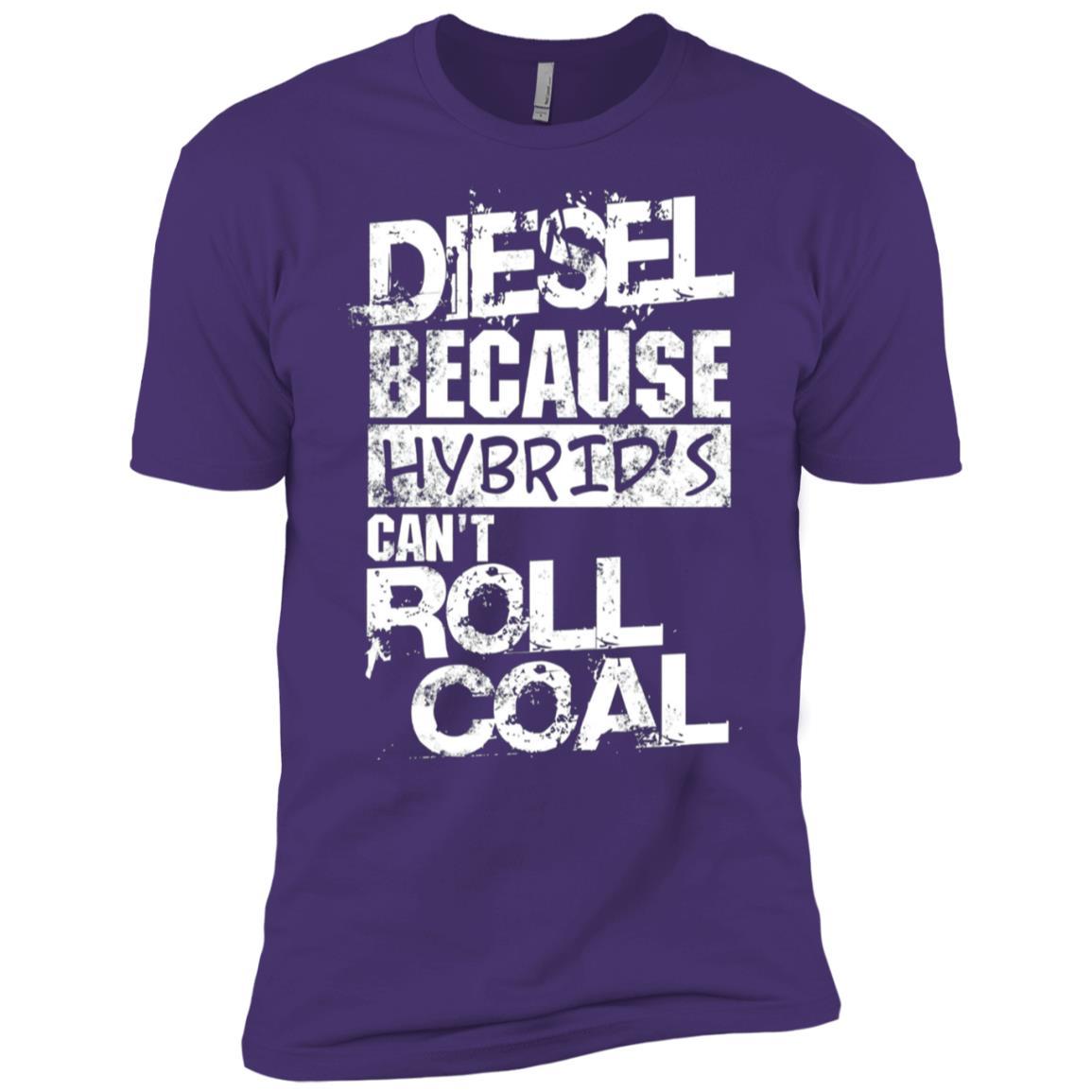 Mens Funny Diesel Truck , Hybrid's Can't Roll Coal Men Short Sleeve T-Shirt