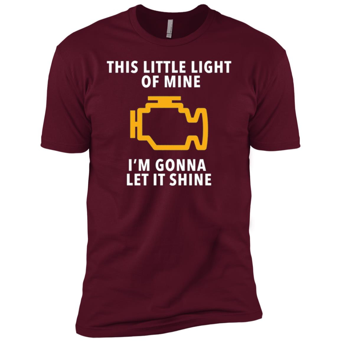 Mens Check Engine Light Cel Funny Men Short Sleeve T-Shirt