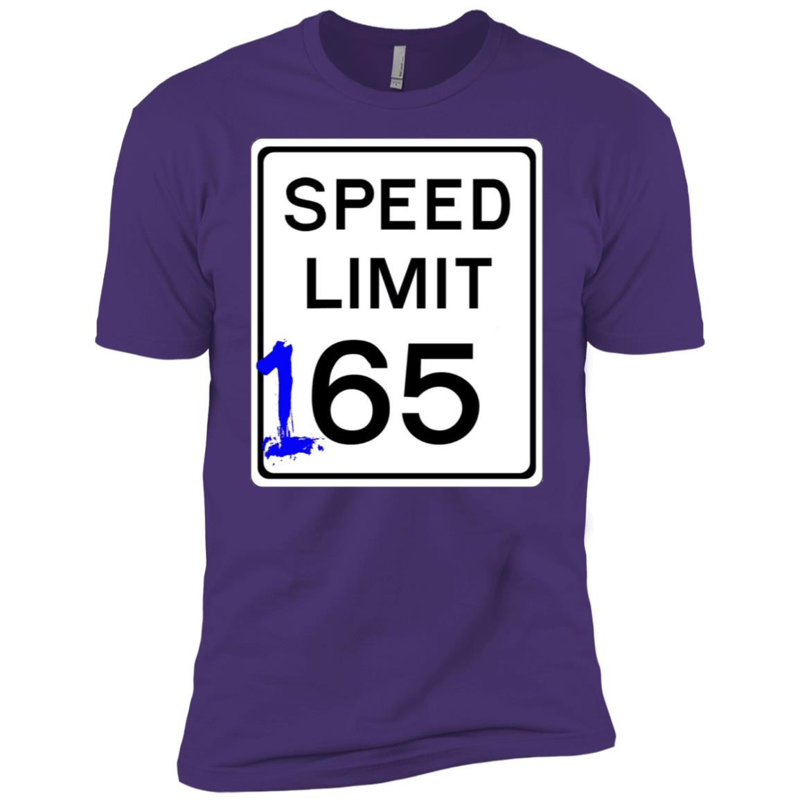 Mens 165 mph sign design cool and funny Street Racing Men Short Sleeve T-Shirt