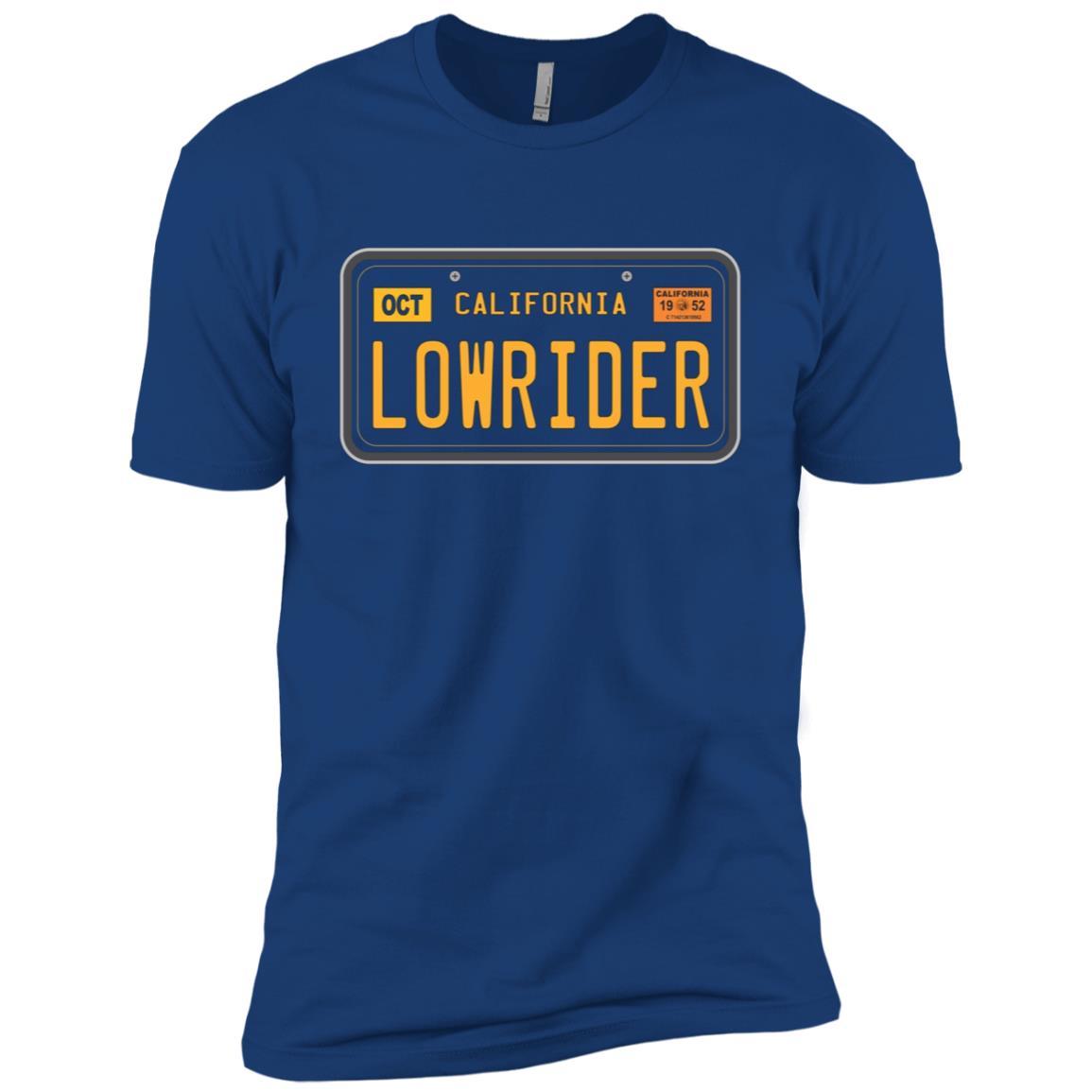 Lowrider – California Black Plates – Lowrider Men Short Sleeve T-Shirt
