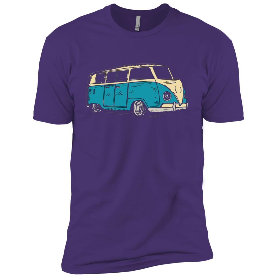 Surf Van Beach Hippie Style Touring Van Men Short Sleeve T-Shirt