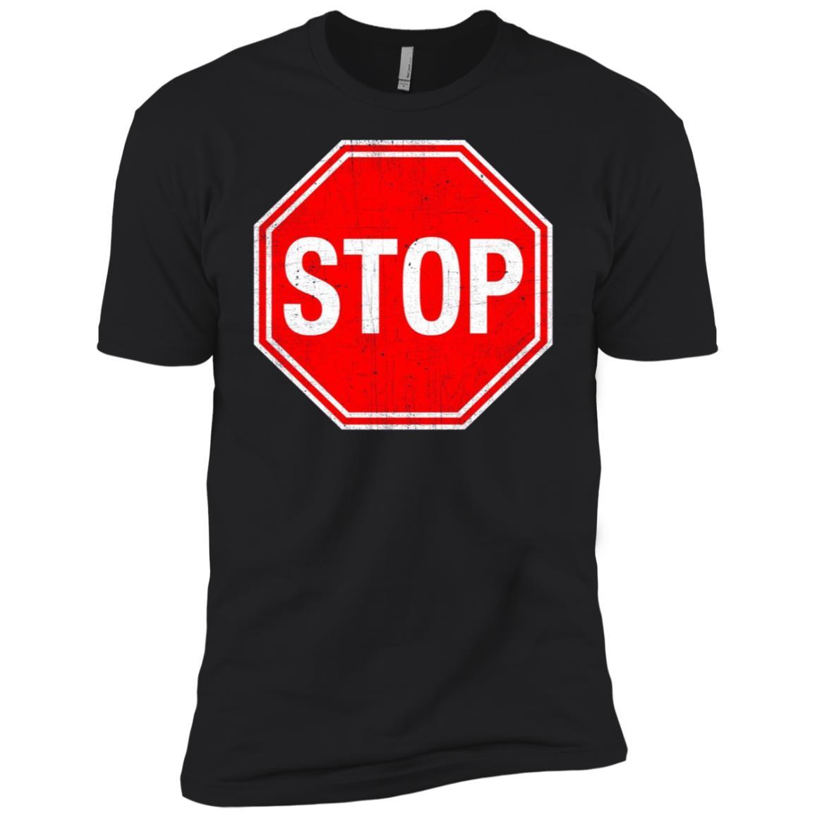 Stop Sign Men Short Sleeve T-Shirt
