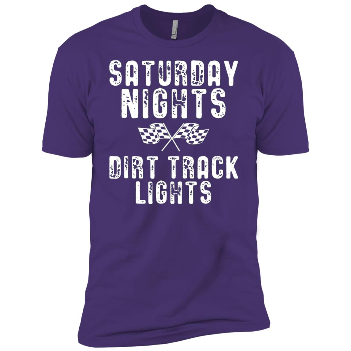 Saturday Nights Dirt Track Lights Cool Racing Men Short Sleeve T-Shirt