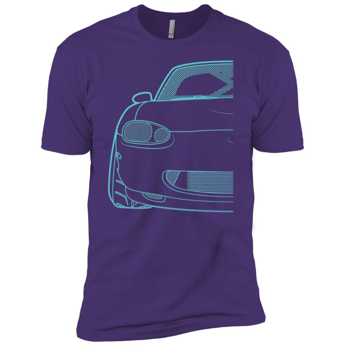 Roadster Nb Series Turbo Racing Blue Gradient Men Short Sleeve T-Shirt