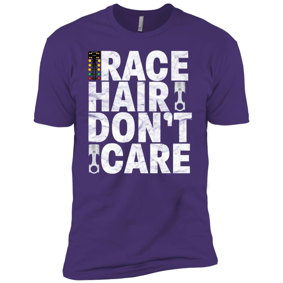 Race Hair Don't Care – Drag Racing Men Short Sleeve T-Shirt